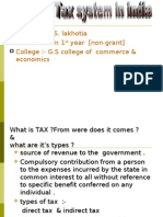 Basic Tax Structure in India