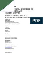 Rudolf Steiner - GA1 - Introduceri La Scrierile de Stiinte Naturale Ale Lui Goethe
