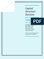 Capital Structure Decision Report