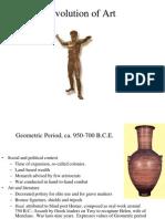 Evolution of Greek Art