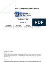 Wiki Spaces Widgets Handout