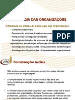 SO Introdução ao Estudo da Sociologia Das Organizações
