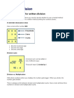 Written Division