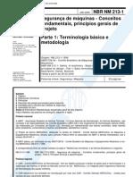 NT NBR NM 213-1 (2000) - Seguranca de Maquinas - Conceitos Fundamentais Principios Gerais de Projeto - Parte 1 Terminologia Basica E Metodologia