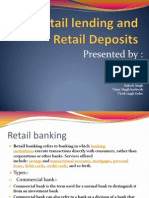 Retail Lending and Retail Deposits