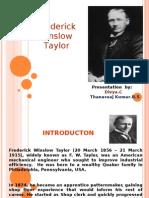 F.W Taylor