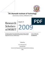 Research Scholars of MSRIT
