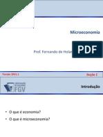 Microeconomia - NA 2011-1 - Secões 1