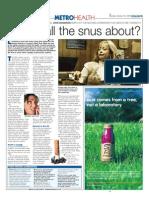 Snuff article in metro