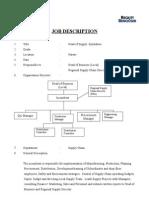 Job Description - Head of Supply