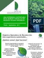 Orgánica Operadora de Recolección, Manejo residuos orgánicos