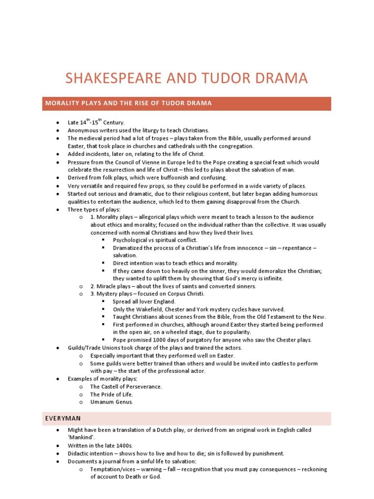 shakespeare morality plays