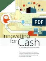 Innovating for Cash