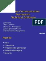 WCF Technical Drilldown