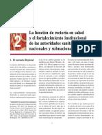 02 - La función de rectoría en salud y el fortalecimiento institucional de las autoridades sanitarias