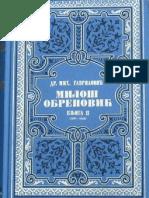 Mihailo Gavrilovic Milos Obrenovic Knj.2
