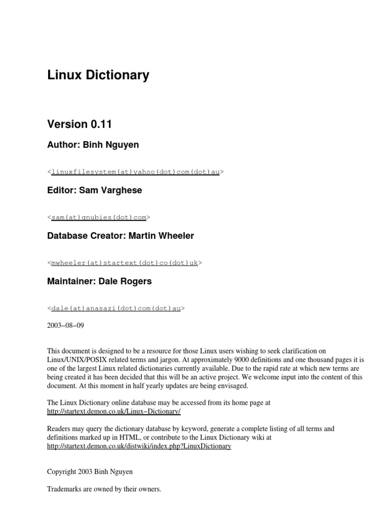 Linux Dictionary | Command Line Interface | Password