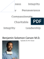 Benjamin Solomon Carson Power Point