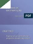 PROGRAMA DE MATEMATICAS