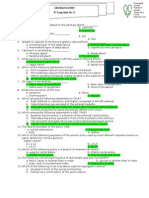 Gross Anatomy 8th Long Quiz -D