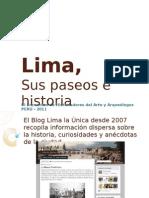 Lima, sus paseos e historia