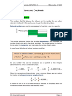UNIT 1 Fractions and Decimals. Activities 2 (3º ESO)