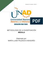 Modulo Metodologia de La Investigacion