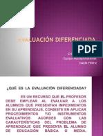 ppt. Evaluación Diferenciada