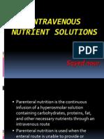 Intravenous Nutrient Solutions