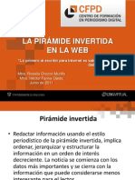 La Piramide Invertida en La Web