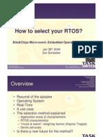 Howto Choose RTOS