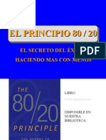EL PRINCIPIO 80 - 20