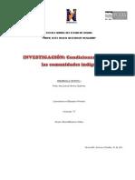 condiciones de salud en las comunidades indígenas