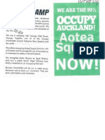 Paper handed out by the protestors at the Aotea Square