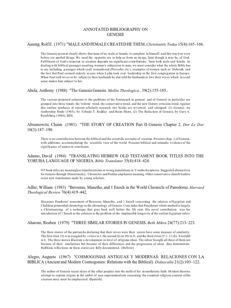 Genesis20bibliography book of genesis rhetoric fandeluxe Choice Image