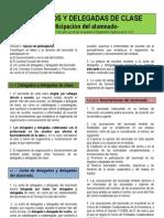 DELEGADOS Y DELEGADAS DE CLASE- Normativa y Funciones