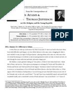John Adams and Thomas Jefferson Correspondence