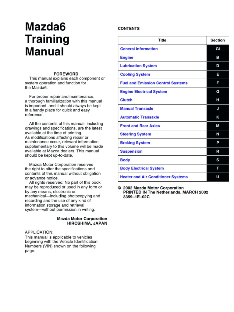 Mazda 3 Service Manual: Side Air Bag Sensor RemovalInstallation Standard Deployment Control System