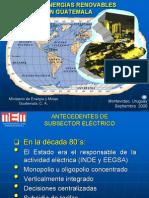 MEM Guatemala Proyectos de Energias Renovables 2006