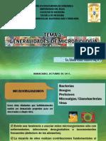 TEMA 1 GENERALIDADES DE MICROBIOLOGÍA