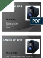 BASICS of UPS - Seminar Presentation