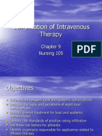 Nur 105 Complication of Intravenous Therapy Ch9