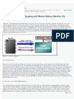 Lithium-Ion Cell Fuel Gauging With Maxim Battery Monitor ICs
