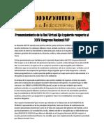 Pronunciamiento de la Red Virtual Ojo Izquierdo respecto al XXIV Congreso Nacional PAP