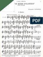A. Tansman Suite in Modo Polonico