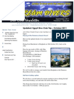 Dream Divers September 2011 Dive Club Newsletter