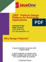 Javaone - j2Ee Platform Design Patterns For Enterprise Appli