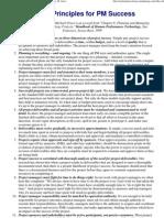 14 Key Principles for PM Success