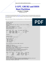 Fedora 16 GPT GRUB2 BIOS Boot Partition