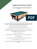 Construye tu propia mesa de Pool